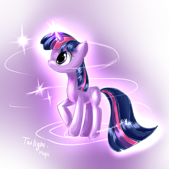 Twilight Sparke pony by AquaGalaxy