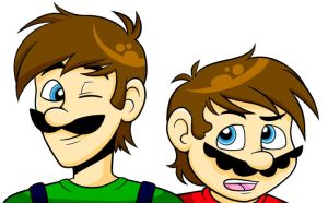 The Mario Bros. by MC-Ash-Tray