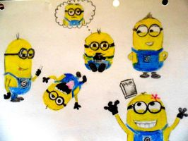 Minions (Quick drawing) by ShinzaK