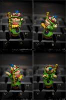 LOL Tiny Teemo sculpture by SomaKun