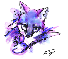 Fox Tattoo First Draft by JessCurious