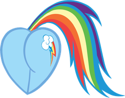 Rainbow Dash Heart by Rayodragon