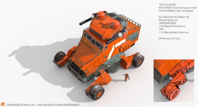 Orange Star LAV - Advance Wars Redesign by ARGHouse