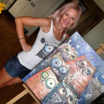 me, cats and owls by bemain