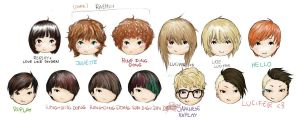 SHINee Tae+Key signature hairstyles by rainbowhamsters