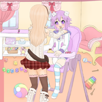 Compa's Pudding (Commission, ABDL content) by Pastel-Hime