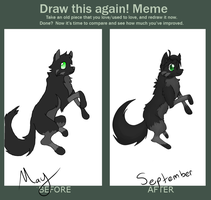 Meme  Before And After Thingy by BlickTheKitty