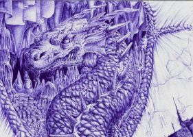 Ballpoint pen Dragon by FizikArt