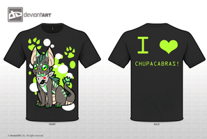 VOTE HERE LOL Chupacabra T shirt contest entry by Komoroshi