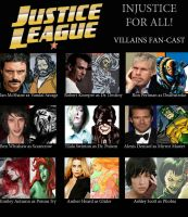 Justice League Villains Fan Cast II by ZoKpooL1
