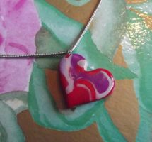 Swirled heart pendant by MeticulousBlue