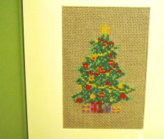 Christmas tree cross stitch by Santian69