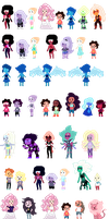 .:StevenUniverseMiniPixels-UPDATED-SPOILERS:. by veri119