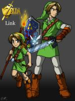 Zelda OoT - Links by Tigerfog