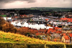 A view from St Mary's Church, Whitby... by TheBaldingOne