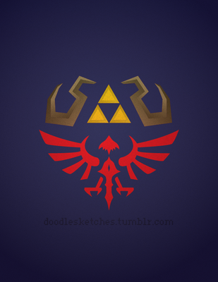 Hylian sheild by owo-face