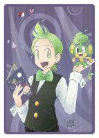 PKMN - Cilan and Pansage 01 by sanna-mania