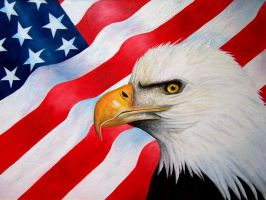 Eagle and Flag by Artman225