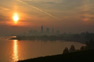 Cleveland in the mist by TomKilbane