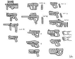 AFF-guns concepts by MeganeRid