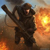 Flamethrower soldier by ISOTXART