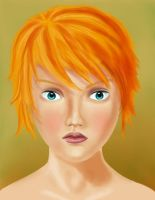 Red hair girl portrait by jorritTyb