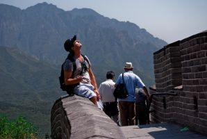 me at the great wall by macgl
