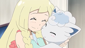 Lillie finally touched a Pokemon by WillDynamo55