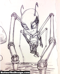 Invader Zim Sketch - Through the Darkness by SketchMonster1