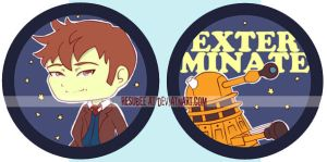 dr who buttons I by resubee
