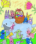 Easter Bunnies by Pumpkin-Queen-Ildi