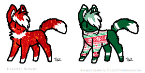 Christmas Adopts [CLOSED] by PurryProductions-Inc