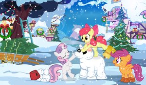 Cutie Mark Crusaders Snowmare Build Team GO! by PixelKitties