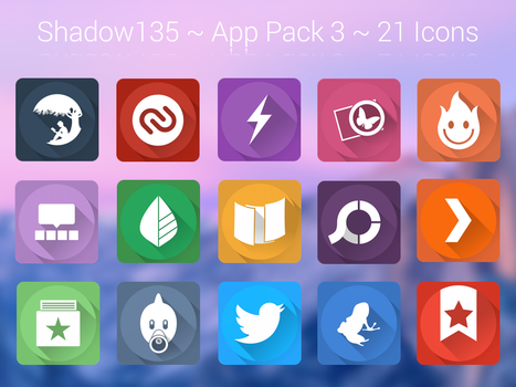 Shadow135 ~ Application Icons Pack 3 by BlackVariant