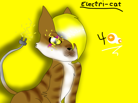 My adoptable (Electri-cat) by Black-Sniper01