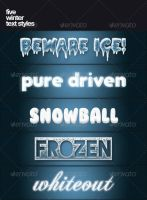 5 Winter Text Styles by PhotoshopStyles