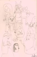Adventure Time Sketches by sanora
