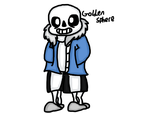 Sans Drawing by GoldenSphere