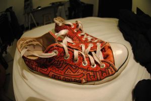 Keith Haring old red allstar by anjinho