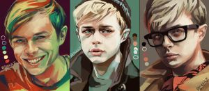 Dane Dehaan Color Palette Studies by renkaz