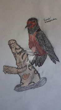 Lewis's Woodpecker (Despriction) by ColtonthePhantom