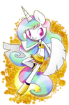 Anthro Celestia by PegaSisters82