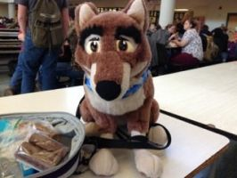 Balto at lunch by TwinTowergal