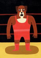 Dog Wrestler by Teagle