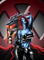 mystique and Erik Magnus Lehns by ashasylum