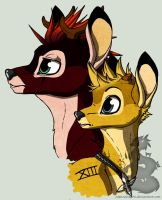 Axel and Roxas in Bambi by Japandragon