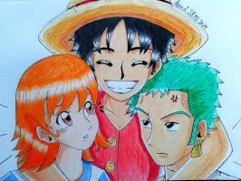 The Beginning//Luffy, Zoro, Nami by EvilAngelofKC17