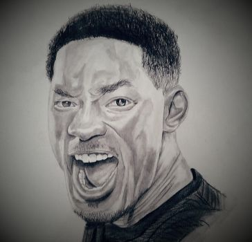 Will Smith pencil drawing by dubz002