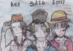 Ace, Sabo And Luffy by Fran48
