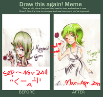 meme: before and after :gumi by IDK-kun
